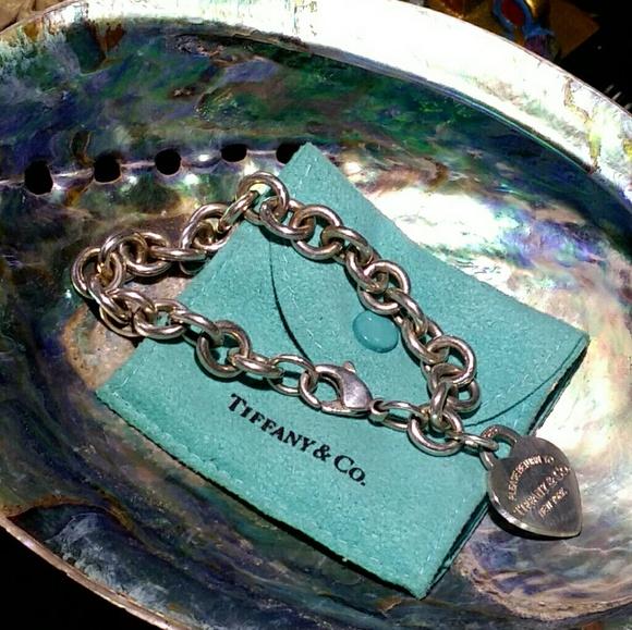 4b9c44a37 Engraved Tiffany & Co. 925 Heart Bracelet. M_5a7a7d13c9fcdf933c31a652